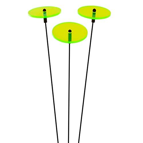"""SUNPLAY """"Sonnenfänger-Scheiben in GRÜN, 3 Stück zu je 5 cm Durchmesser im Set + 35 cm Schwingstäbe"""