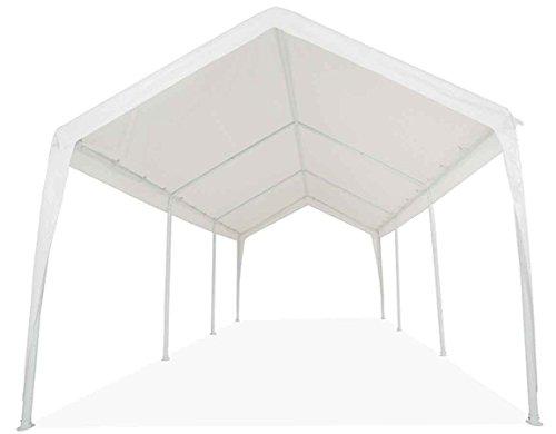 Impact Canopy 070018008-VC Carport Portable Garage, 11 x 20, White