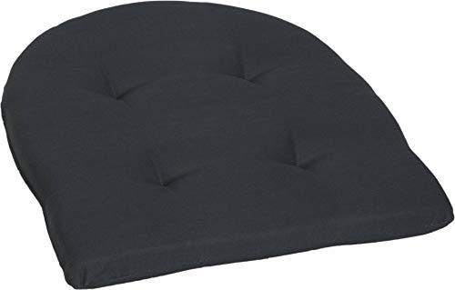 Beo Sitzkissen Gartenmöbel wasserabweisend | hautfreundlich atmungsaktiv | Made in EU | Anthrazit | Stuhlkissen fleckenabweisend | Sesselkissen 41x41 cm für Stuhl | pflegeleicht