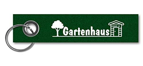 Samunshi® Schlüsselanhänger Gartenhaus Keychain Schlüsselbund Schlüsselring Samunshi Gartenhaus 13x3cm grün/weiß
