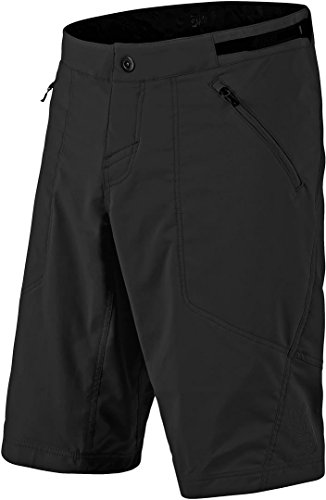 Troy Lee Designs 2018 Skyline Shell Men's Off-Road BMX Shorts, Solid Black, 34
