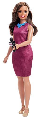 Barbie Quiero Ser Presentadora de notícias, muñeca 60 aniversario con accesorios (Mattel GFX27)