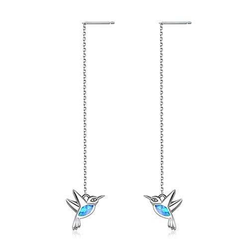 WINNICACA Kolibri Ohrringe Sterling Silber Opal Vogel baumeln Ohrringe für Frauen Mädchen Geschenke