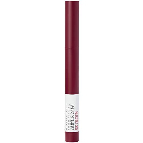 Pintalabios Maybelline New York Super Stay Ink Crayon mate y de larga duración, nº 55 Make It Happen, 1,5 g