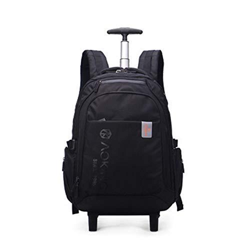QWERASD Trolley Bag Fashion Backpack Roller Bag Hand Luggage with Computer Bag,Combination Inner Bag,Indoor Outdoor School,Work, Travel Black Blue,Black