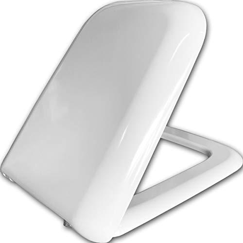 Copriwater Ceramica Cielo modello Shui Originale Bianco, Tavoletta wc in Termoindurente Cerniere Cromate con Chiusura Ammortizzata Soft Close o Chiusura Normale Classica (CHIUSURA CLASSICA)