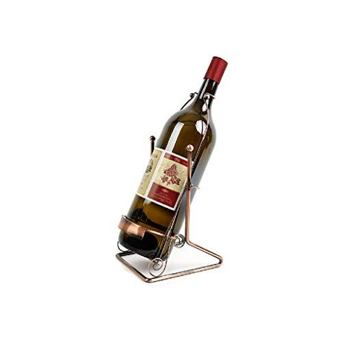 NXYJD Legno Swing Wine Rack autoportante in Ferro battuto Rack da Tavolo Vino, Bottiglia di Vino Singolo Display Rack Bottiglia di Vino Armadio di immagazzinaggio Ristorante Bar