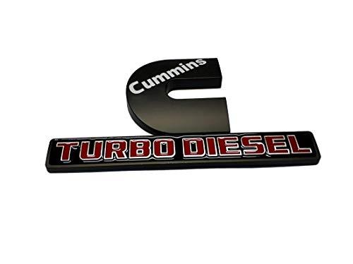 2pcs Cummins Turbo Diesel Emblems 3D Decal Badges High Output Replacement for Dodge Ram 2500 3500 Nameplate Emblem Mopar