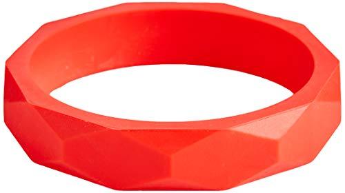 Knabbelende Teething Bangle Armband, Rood