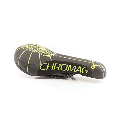 Chromag Overture Sattel MTB/Cycle/VAE/E-Bike für Erwachsene, Unisex, Schwarz/Hellgrün, 136 x 243 mm
