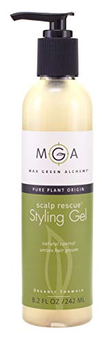 Scalp Rescue Styling Gel, 8.2 fl oz, Organic Unisex Formula Controls Frizz and Fly Away Hair, Curly Hair Community Favorite Gives Flexible Natural Hold, Fights Humidity, Alcohol Free & Water Based