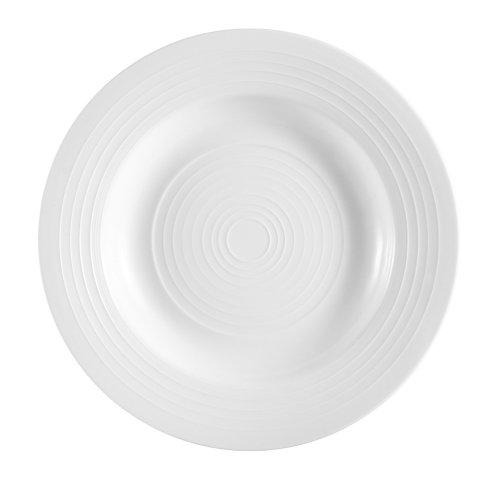 Tango 9-Ounce Bone White Porcelain Pasta Bowl, 9-Inch, Box of 24 - CAC China TGO-3