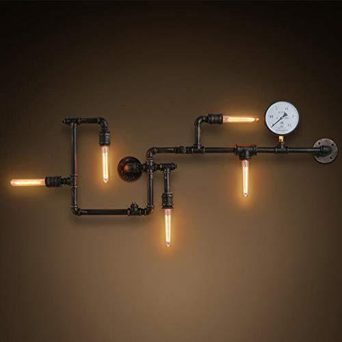 E27 5 leuchtet wasserpfeife wandleuchter,Eisen industrielle lampe leuchte waschen wandleuchte für restaurant-A