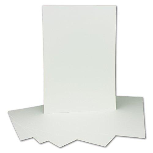 50 Stück DIN A4 Karton mit Leinenstruktur - Farbe: Weiss - 29,7 x 21 cm - 250 g/m² - Einzelkarte ohne Falz - Ideal zum Basteln, Scrapbooking, Grußkarte