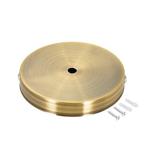 sourcing map Retro Licht Baldachin Kit Wandleuchte Lampe Platte Leuchte 120mm 4,7 Zoll Bronze Golden