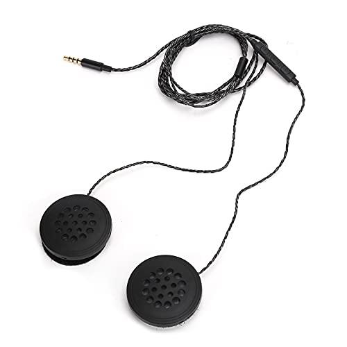 Zunate Auriculares para Casco de Motocicleta, Auriculares Deportivos universales para Ciclismo de 3,5 mm con micrófono, Auriculares estéreo para Casco con Manos Libres Bluetooth 5.0