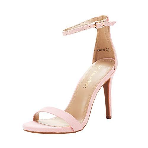 DREAM PAIRS Women's Karrie Pink High Stiletto Pump Heeled Sandals Size 11 B(M) US
