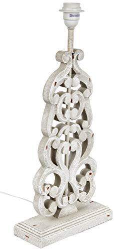 Better & Best 0053592 – lampe de table avec design de branches avec Base rectangulaire, couleur crème