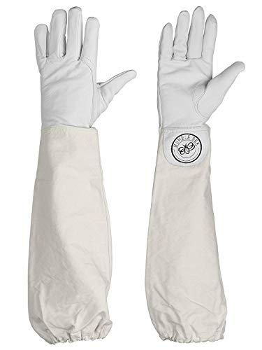 Humble Bee Beekeeping Gloves Imkerhandschuhe aus Ziegenleder, Meadow Gray, Medium
