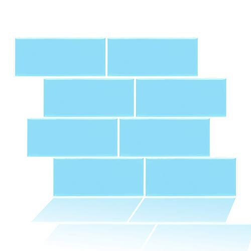 """FAM STICKTILES Azulejos Adhesivos, Pegatinas de Baldosas 3D Auto-Adhesivo Pegatinas de Azulejos para Cocina 11""""x 8.5"""" -4 Piezas"""