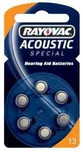 Rayovac Acoustic Special Typ 13 Hörgerätebatterie Zinc Air P13 PR48 ZL2, 30 Stück