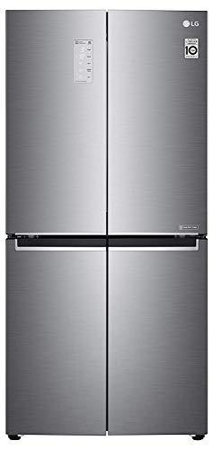 LG 594 L Wi-Fi Inverter Frost-Free Side-By-Side Refrigerator (GC-B22FTLPL, Shiny Steel)