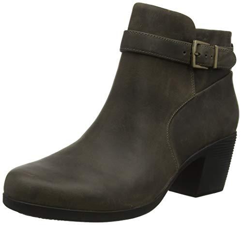 Clarks Damen Un Lindel Lo Stiefeletten, Grau Taupe Leather, 41 EU