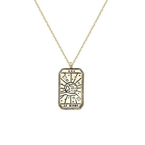 MIKUAU collarCollar con Colgante de Cuentas de Estilo árabe de circonita de Cristal para Mujer, joyería Delicada de Boda, Acero Inoxidable, Oro Rosa en Regalos ovalados