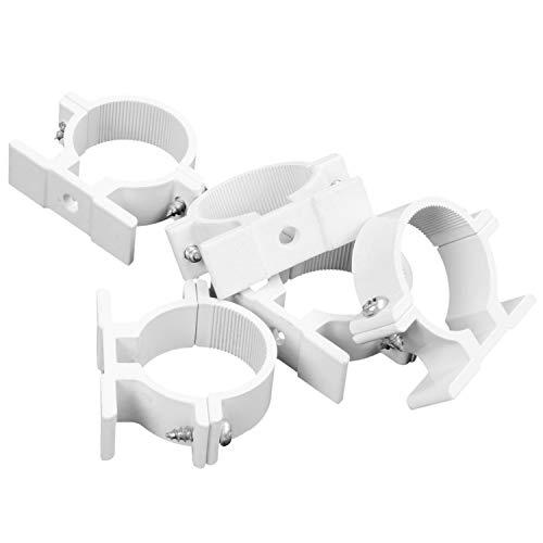 Senmubery 32Mm Dia Wandmontage Aluminium Rohrschelle Clamp Fastener 5Pcs