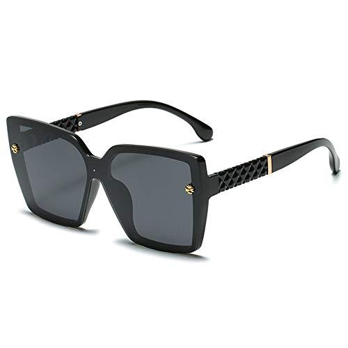 WOXING Mujere Moda Gafas,Aire Libre Deportes Viajes Conducir Deportivas Gafas,Ligeras Antideslumbrantes Polarizadas Gafas,Tendencia Mujer Gafas De Sol-Negro 14.4x5.9cm(6x2inch)