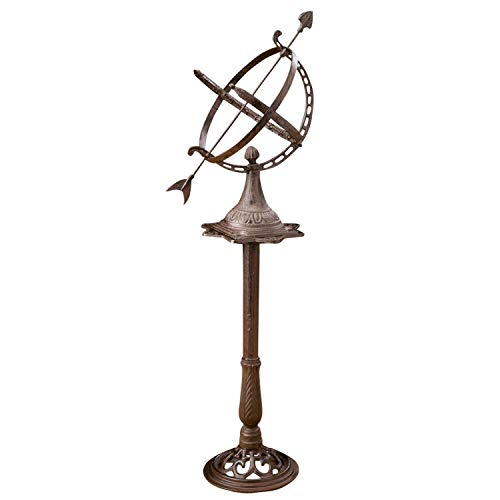 Sonnenuhr 122cm Eisen Garten Dekoration Nostalgie antik Stil sundial