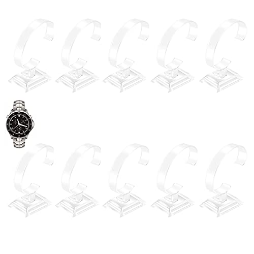 10 Stück Uhrenständer Acryl Uhrenständer Armbandständer Armbandhalter Ausstellungsstand Uhr Ausstellungsstand Armband für Uhren Armbänder Gewerbliche Nutzung Schreibtische Geschäfte Ständer