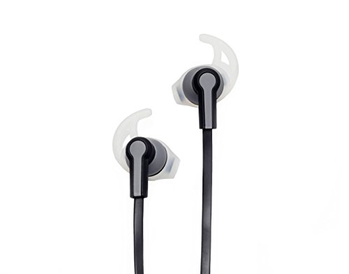 1790 Wireless Bluetooth Sport Headset in Ear Noise Canceling Earbuds - Great for Running & Workouts - Earphones & Microphone for Cellphone - Sweatproof Universal Headphones Stay in While Moving, Black