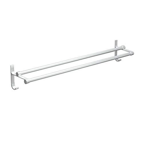 ZZSJC Toalla de Aluminio Rack, de Doble Pared de Toallas, Almacenamiento de baño Colgante, suspensión de la Toalla de baño, Plataforma de baño, Cuarto de baño Hardware Colgante