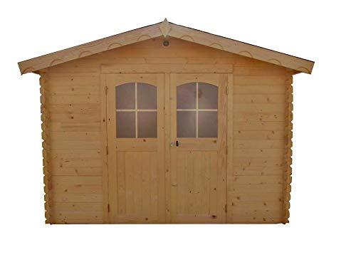 Abri en madriers massifs 28 mm - 7,86 m²