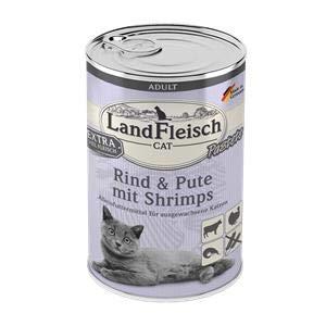 Landfleisch Adult Pastete mit Rind+Pute+Shrimps | 6X 400g Katzenfutter