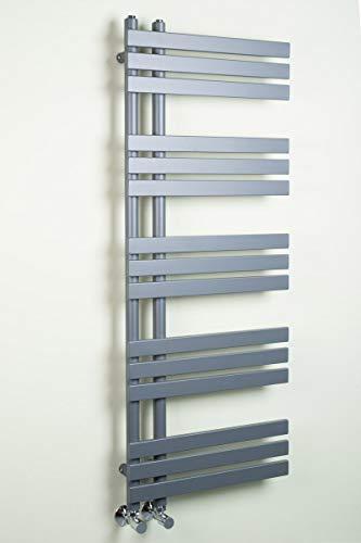 Warmehaus Designer Handtuchheizkörper Badheizkörper 1272 x 500 mm grau
