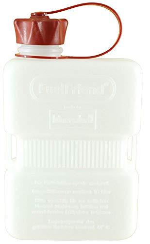 ドイツ製 ガソリン オイル 携行缶 ジェリ缶 燃料 ボトル ポリタンク サイドバッグ バイク 車 車載 予備 タンク アウトドア 国連規格 UNEG (White 1L)