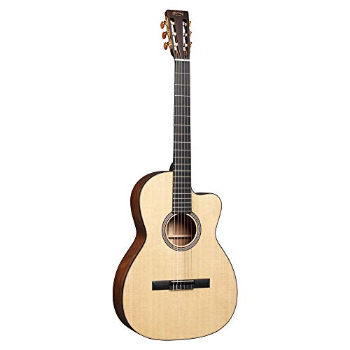 Martin Guitar 000C12-16E Nylon with Gig Bag, Acoustic-Electric Guitar, Mahogany and Sitka Spruce Construction, Gloss-Top Finish, 000C-12 Fret, and Low-Profile Neck Shape