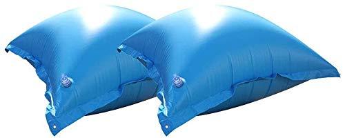 well2wellness® 2 x Pool Luftkissen, Poolkissen und Winterkissen für Abdeckplanen mit neuem Ventil und 4 Ösen