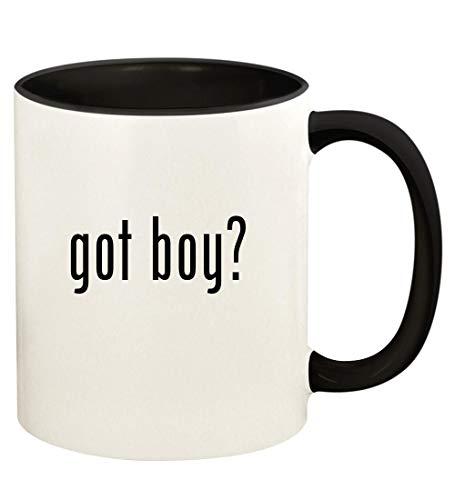 got boy? - 11oz Ceramic Colored Handle and Inside Coffee Mug Cup, Black