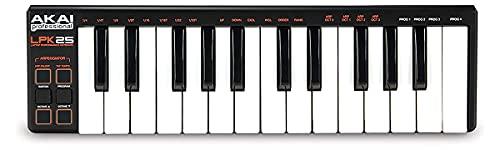 Teclado controlador AKAI USB-MIDI com 25 teclas LPK25 para Laptop