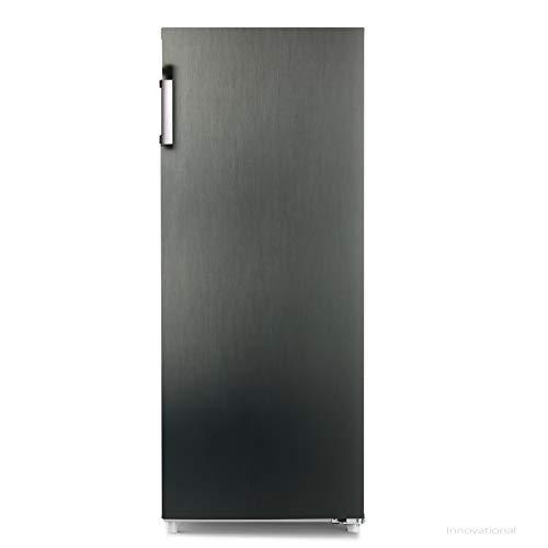 CHiQ FSD166NE4 166L Congelador vertical, Color Negro, Altura 1.44m, Puertas reversibles, 42 db, Compresor con 12 años garantia, A +