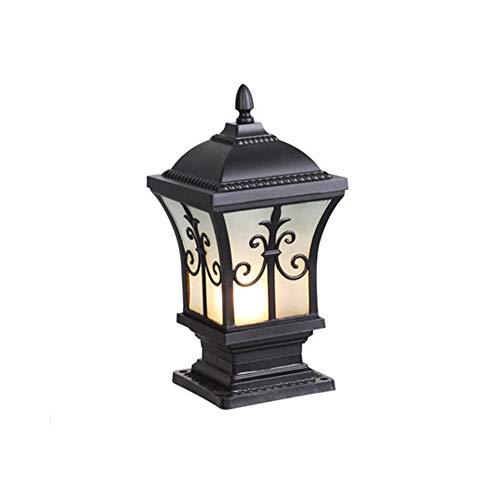 Wylolik Accesorio de iluminación de seguridad de escritorio externo, lámpara de pedestal resistente a la intemperie, luces de piso para paisaje al aire libre, farola externa E27 para patio, césped, se