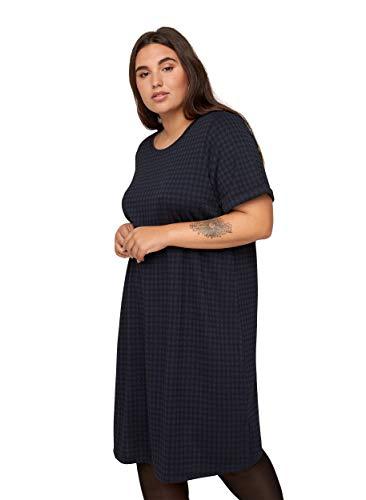 Zizzi Große Größen Damen Kariertes Kurzarm Kleid Gr 42-56