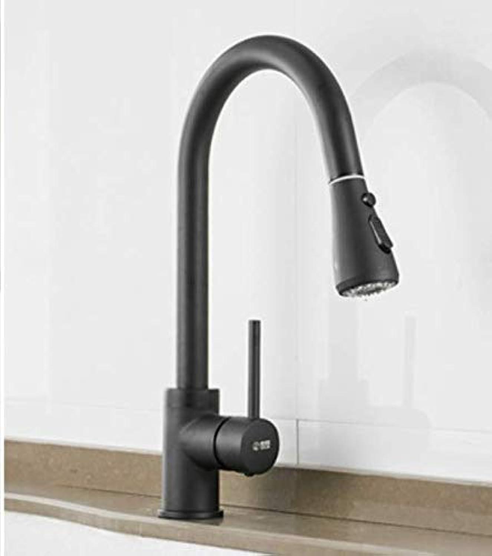 Schwarze küche ziehen kalten wasserhahn voll kupfer krper waschbecken waschbecken waschbecken wasserhahn einziehbar