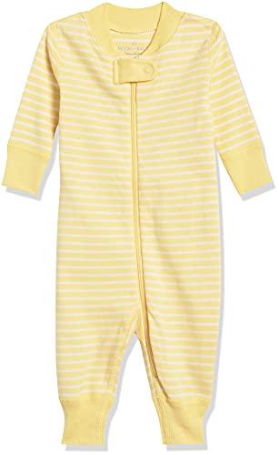 Moon and Back de Hanna Andersson - Pijama de una pieza sin pies hecho de algodón orgánico para bebé, Amarillo, 6-12 messes (67-72 CM)