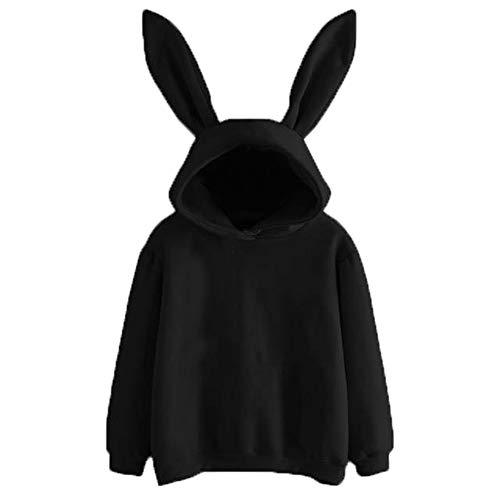 FIAN Bluson Sudadera Juvenil Orejas De Conejo para Mujer 6305 Talla S