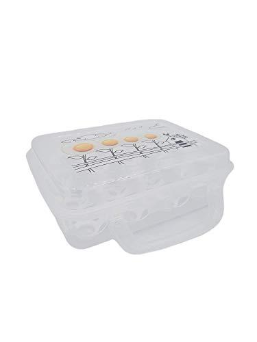 Huevera Nevera Para Frigorifico Plastico 12 Unidades   Organizador De Huevos Caja Transparente Con Tapa Orden Cocina