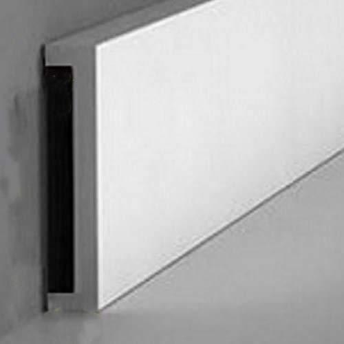 Zoccoletto battiscopa HDF RESISTENTE ALLACQUA passaggio fili - parquet laminato - MISURA 70 X 12 PREZZO AL ML (ASTA DA 2250MM) - COLORE NOCE TANGANICA NATURALE